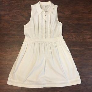 Diane Von Furstenberg sleeveless white dress 14.